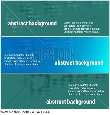 Modern Banner, Great Design For Any Purposes. Abstract Background Banner. Isolated Vector Illustrati