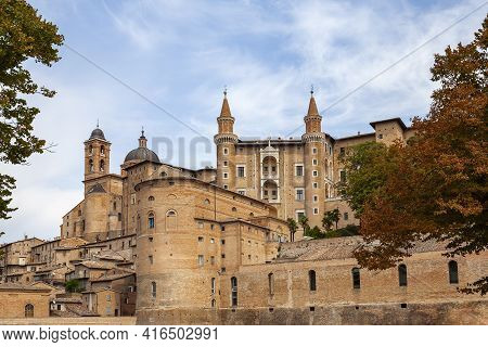 Palazzo Ducale Castle Of The Dukes Of Urbino, Italy