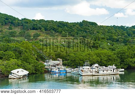 Puerto Barrios, Guatemala - January 3, 2018: View Of Coastline Near Puerto Barrios In Guatemala