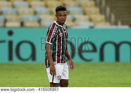 Rio, Brazil - April 11, 2021: Wellington Player In Match Between Flamengo V Nova Iguacu By Carioca C