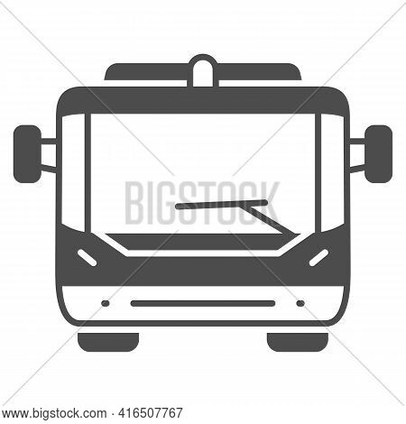 Passenger Bus For Plane Boarding Solid Icon, Airlines Concept, Passenger Transportation Vector Sign