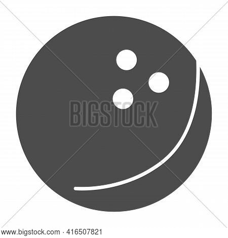 Bowling Ball Solid Icon, Bowling Concept, Bowling Game Sign On White Background, Ball Icon In Glyph