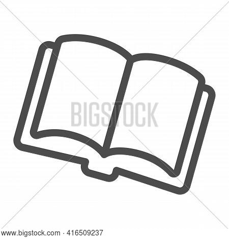 Open Book, Magazine Line Icon, Children Book Day Concept, Magazine Vector Sign On White Background,