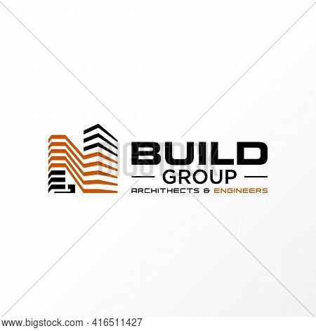 Letter N Logo Vector Stock. 3d Image. Building Abstract Design Concept. Can Be Used As A Symbol Rela