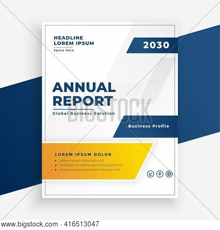 Elegant Annual Report Business Flyer Modern Design