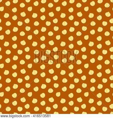 Cute Cartoon Style Chickpeas, Chick Pea Seeds Vector Seamless Pattern Background For Healthy Vegan F
