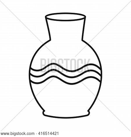 Vector Design Of Vase And Clay Sign. Graphic Of Vase And Ceramic Stock Vector Illustration.
