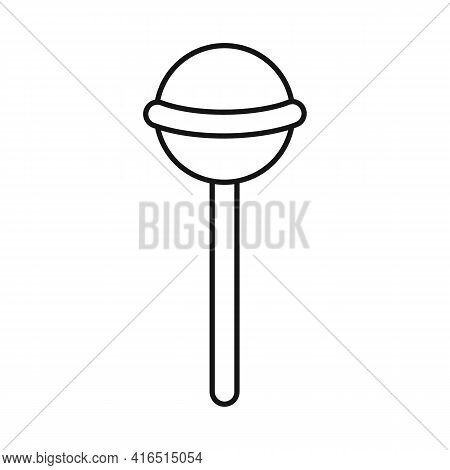 Vector Design Of Lollipop And Cane Sign. Graphic Of Lollipop And Spiral Stock Vector Illustration.
