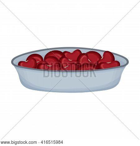 Bowl Beans Vector Cartoon Icon. Vector Illustration Bowl Bean On White Background. Isolated Cartoon