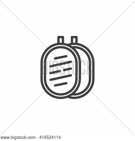 Photography Reflector Line Icon. Linear Style Sign For Mobile Concept And Web Design. Light Reflecto