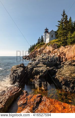 Bass Harbor Lighthouse, Acadia National Park, Maine, New England, Usa, North America