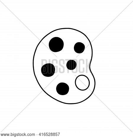 Outline Palette Icon. Artist Palette Symbol, Vector Illustration.