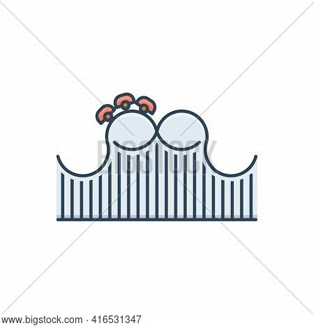 Color Illustration Icon For Roller-coaster Roller Coaster Funfair  Theme-park