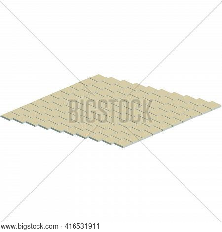 Tile Layout Example.vector Isometric And 3d View.