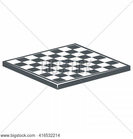 Board Game Of Chess.chess Board Without Game Pieces Icon In Flat Style.vector Illustration.