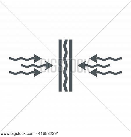 Vapor-permeating Layer In The Construction Of Buildings Icon In Flat Style.vector Illustration.
