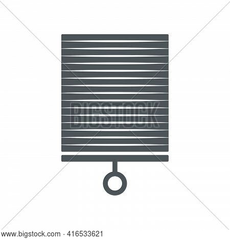 Jalousie Icon In A Flat Style. Vector Illustration.