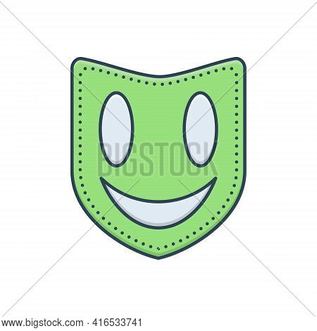 Color Illustration Icon For Mask Face-mask Masquerade Drama Performance