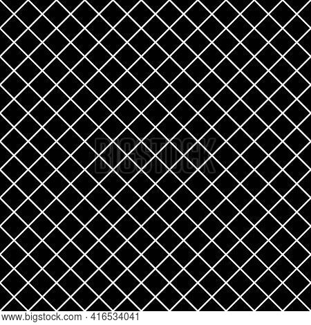 Seamless Chequered Background. Diagonal Rhombus Pattern. Geometric Seamless Texture. Mosaic Plaid. C