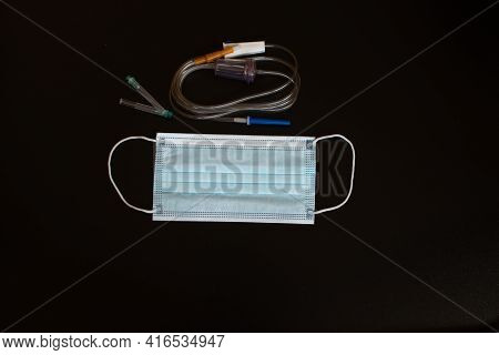 Medical Mask And Infusion System For Intravenous Infusion.