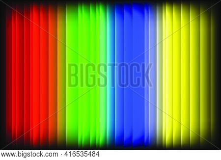Abstract Shining Multicolor Background With Vertical Stripes.