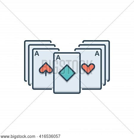 Color Illustration Icon For Blackjack  Playing-cards Roulette  Casino Poker  Gamble