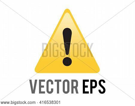 The Isolated Vector Yellow Triangle Warning Or Alert Icon With Black Exclamation Mark Inside