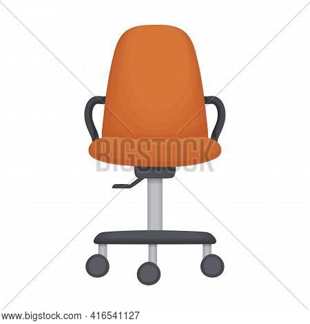 Chair Office Vector Cartoon Icon. Vector Illustration Armchair Office On White Background. Isolated