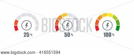 Measuring Scale. Percent Scale Or Risk Scale. Concept Template. Vector Graphics