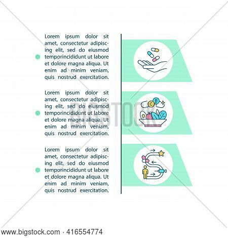 Interventional Studies Concept Line Icons With Text. Ppt Page Vector Template With Copy Space. Broch