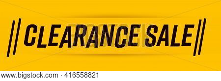 Yellow Clearance Sale Social Media Marketing Header Banner. Minimal Retail Horizontal Poster Templat