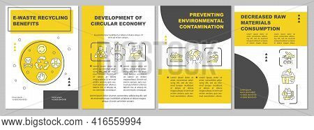 E-waste Recycling Brochure Template. Contamination Prevention. Flyer, Booklet, Leaflet Print, Cover