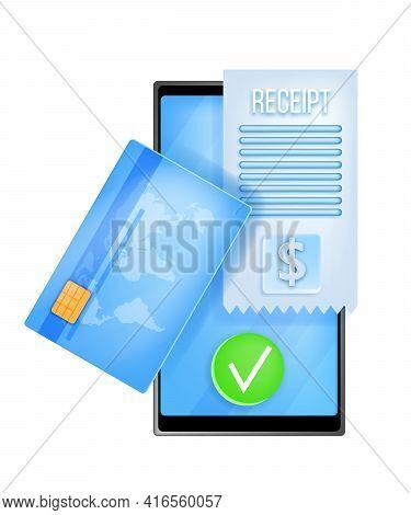 Online Payment, Internet Transaction, Digital Money Transfer Vector Illustration, Smartphone, Card,