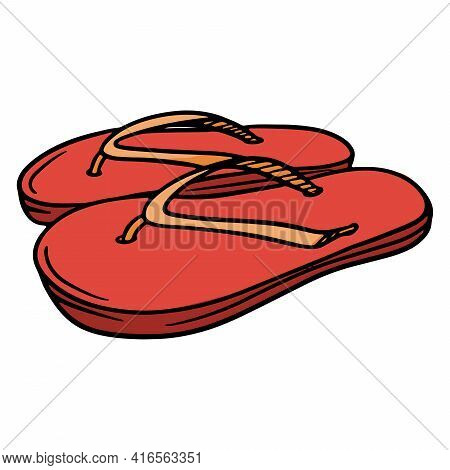 Beach Shoes. Flip-flops. Flip Flops With Ropes. Rubber Beach Shoes.