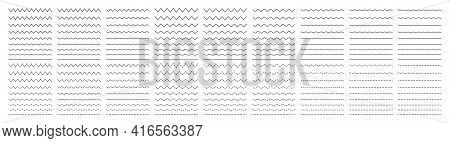 Zigzag Wave. Wavy Line. Undulate Zigzag. Curve And Squiggle Line. Wiggly Pattern For Divider, Sine A