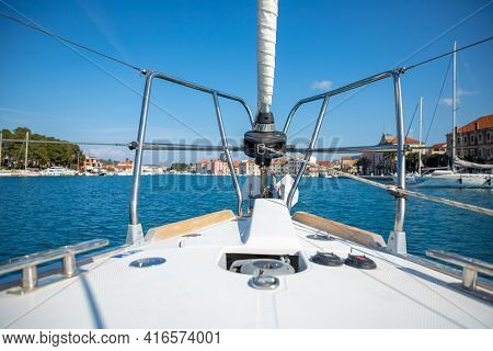 View From Yacht Of Stari Grad Cityscape, Croatia