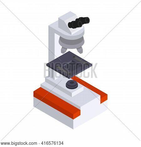 Microscope Vector Icon.isometric Vector Icon Isolated On White Background Microscope.
