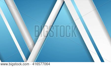 Blue and grey abstract corporate geometric background