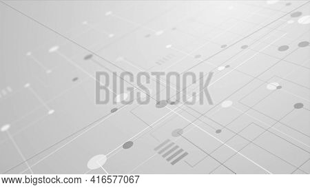 Abstract grey tech circuit board lines drawing background