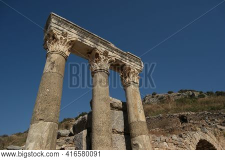 Archaeological Ruins Of An Ancient City Of Ephesus, Turkey.