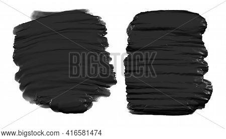 Black Thick Watercolor Paint Texture Background Design