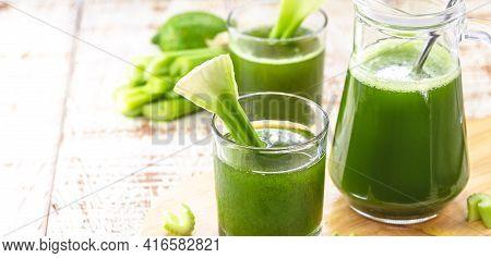 Celery Smoothie, Green Juice, Natural Vegetables Juice