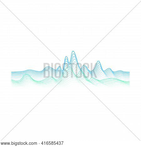 Sound Wave Vector Cartoon Icon. Vector Illustration Sound Wave On White Background. Isolated Cartoon