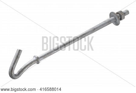 Screw Hook Cable Holder (with Clipping Path) Isolated On White Background