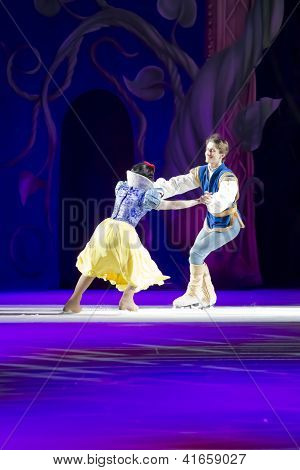 Snow White And Prince Charming Skating Fast