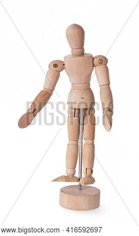 Wooden man model for paiting