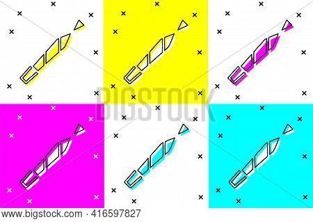 Set Marijuana Joint, Spliff Icon Isolated On Color Background. Cigarette With Drug, Marijuana Cigare