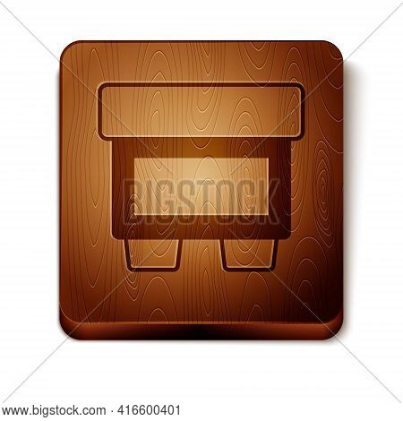 Brown Fuse Of Electrical Protection Component Icon Isolated On White Background. Melting Breaking Pr