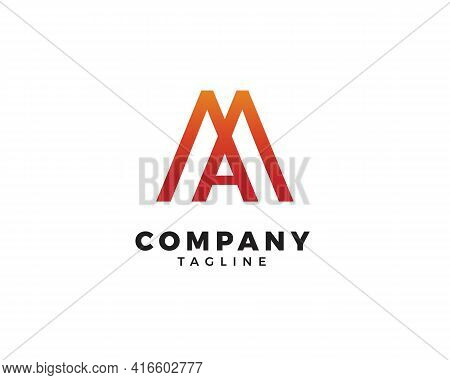 Ma Letter Initial Logo Design Vector Template