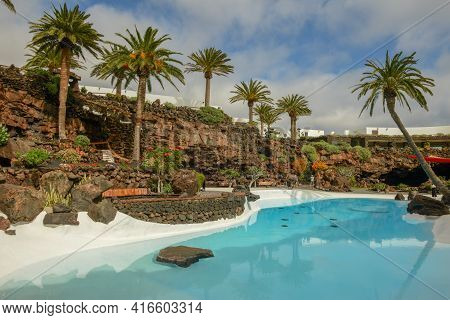 Jameos Del Agua Of The Artist Cesar Manrique At Lanzarote On Canary Islands In Spain